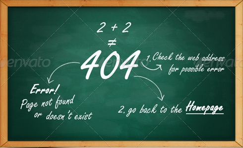 Chalkboard 404 Error Page