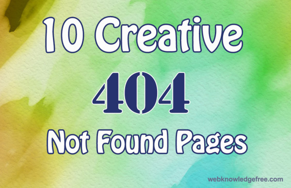creative 404 not found page