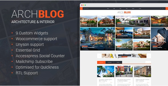 Architect Blog & Portfolio WordPress Theme