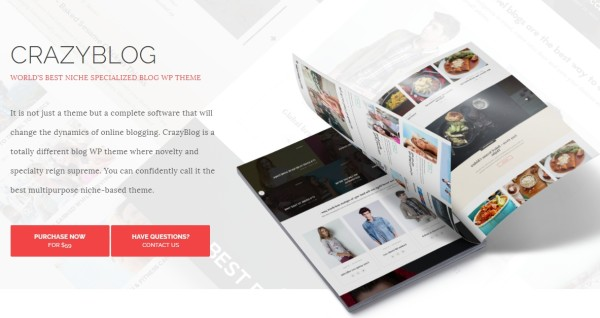 CrazyBlog wordpress theme for Blog or Magazine for Adsense or Affiliate Business