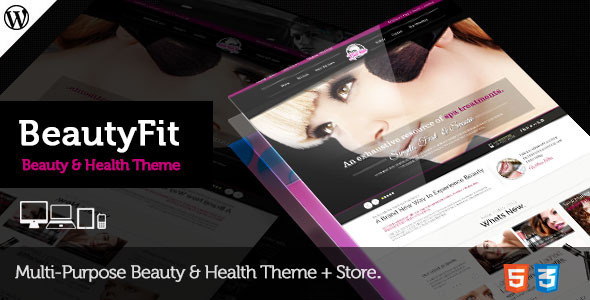 Health & Beauty Multipurpose WordPress Theme - BeautyFit