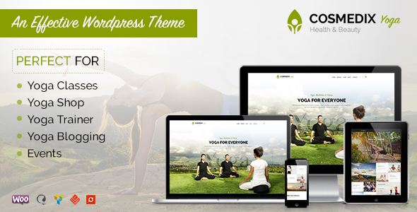 Health Beauty & Yoga WordPress Theme - Cosmedix