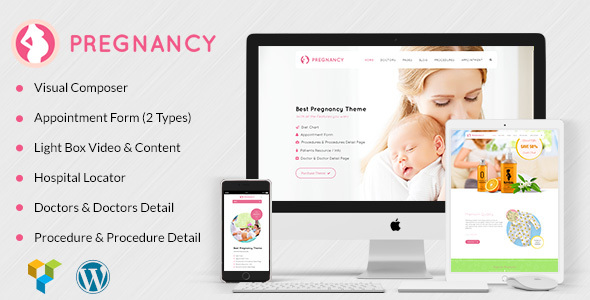 Health, Medical WordPress Theme for Gynecologist- Pregnancy Medical