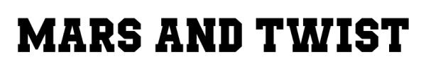 Mars&Twist Baseball Jersey font