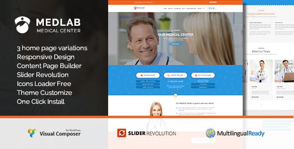 Medical Center - Health & Beauty WordPress Theme - MedLab