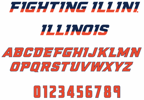 NCAA Illinois Fighting Illini by The Sports Fonts