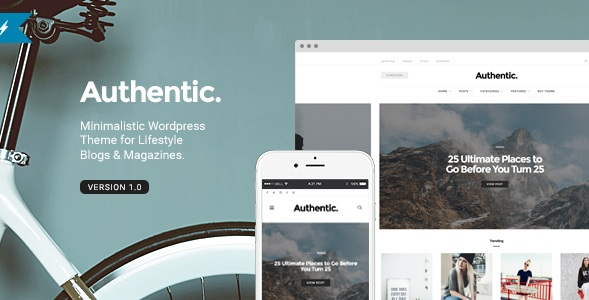 WordPress Theme for Authentic, Lifestyle Blog and Magazine