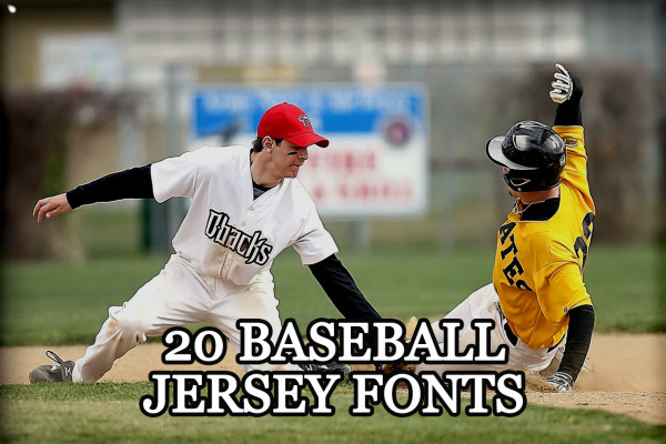 20 Baseball Jersey fonts May be Use In Project Like Custom Tshirt Design