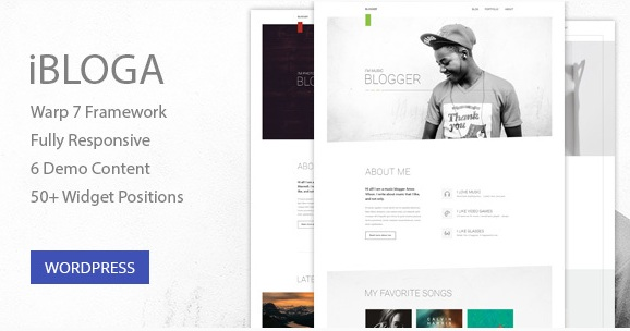 iBloga - Creative Multipurpose Blog or Portfolio WordPress Theme