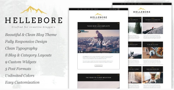 responsive WordPress Blog Theme - Hellebore
