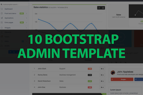 10 bootstrap admin templates with elegant design