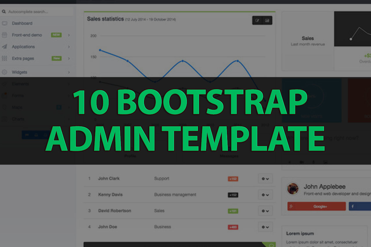 10 bootstrap admin templates with elegant design web knowledge free wajeb Images