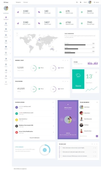 Bilbox - Admin Dashboard Template