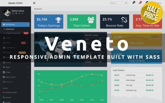 Veneto - Responsive Admin Bootstrap Template
