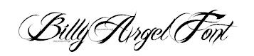 Billy Argel Tattoo Font by Billy Argel