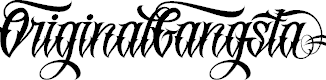 Original GangstA Tattoo fonts for body paiting by GP Typefoundry