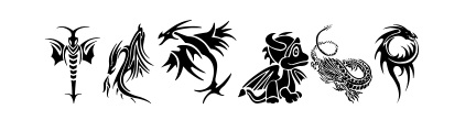 Tribal Dragons Tattoo Font