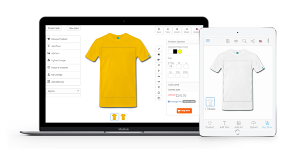 custom online product designer tool