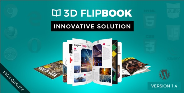 Interactive 3D FlipBook Powered Physics Engine WordPress Plugin