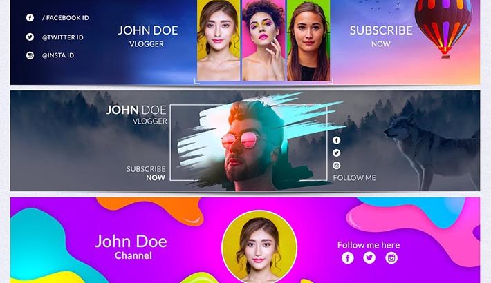 Best Banner Templates For Youtube To Make Creative Channel Art
